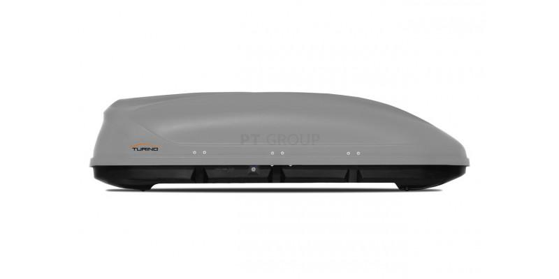 Автобокс на крышу серый матовый Turino 1 (410 л).