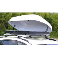 Автобокс на крышу Белый Turino 1 (410 л) Аэродинамический односторонний