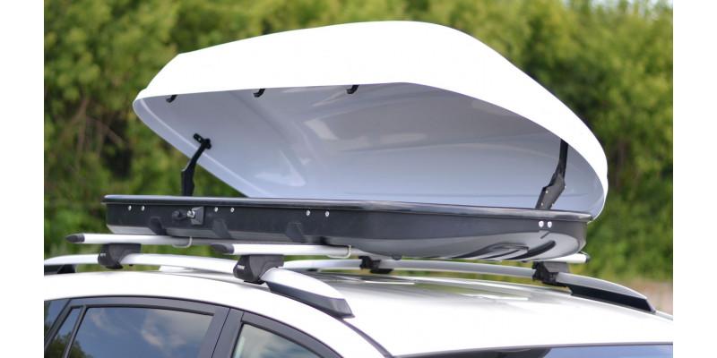 Автобокс на крышу Белый матовый Turino 1 (410 л).