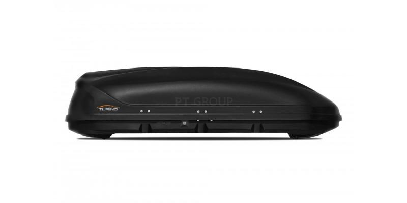 Автобокс на крышу чёрный Turino 1 (410 л) Аэродинамический односторонний
