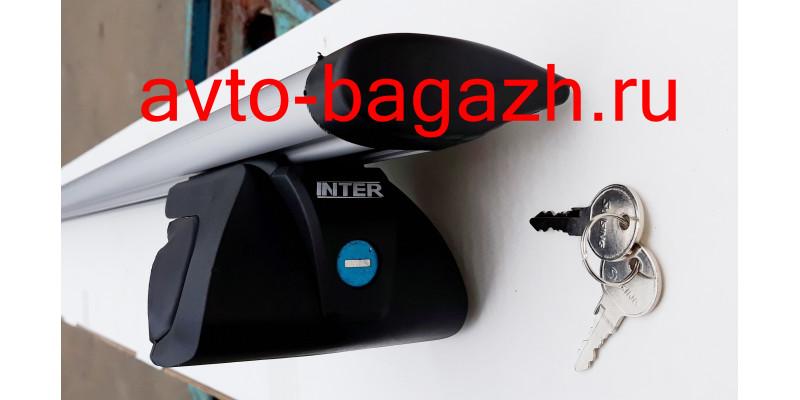 Багажник на рейлинги INTER Titan с замком 165 см (Аэро-крыло дуги). Артикул 5522-1208