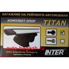 Багажник на рейлинги INTER Titan 120 см (Аэро-крыло дуги). Артикул 5521-1205