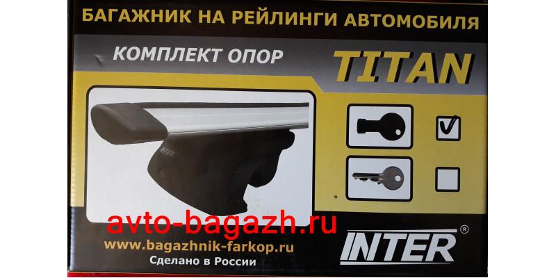 Багажник на рейлинги INTER Titan 120 см (Аэродинамические дуги с замком). Артикул 5521-1105