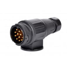 Вилка (штекер) 13-контактная для прицепа авто-дома