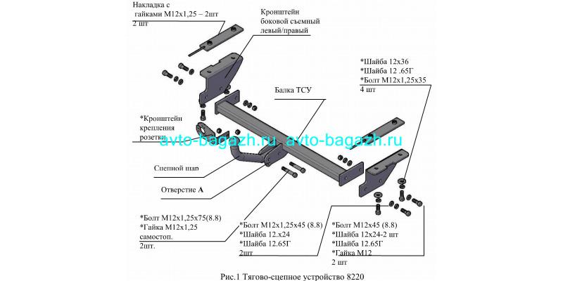 Фаркоп Трейлер для Chery Tiggo 5 T21 2WD 2014-2016. Артикул 8220