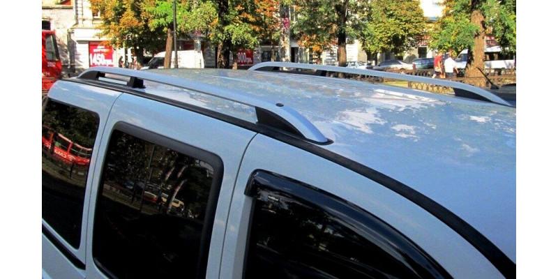 Рейлинги FIAT DOBLO 2003-2009 серебристые.